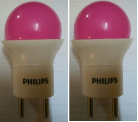 0.5 W LED Bulb (Pink, Pack of 2)