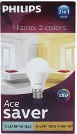 8.5W LED Bulb (White, Pack of 2)