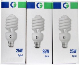 Crompton Greaves Spiral 25-Watt CFL Bulb (Warm White,Pack of 2)