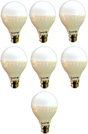 7W B22 LED Bulb (White) [Pack of 7]