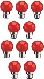 Syska 0.5 W LED Bulb B22 Red (pack of 10)