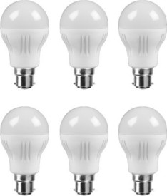 3 W B22 LED Bulb (White, Pack of 6)