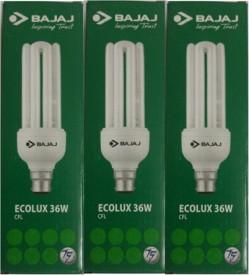 Bajaj 36W 3U Ecolux CFL Bulb (White, Pack of 3)