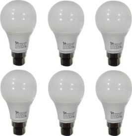 Syska 5W LED Bulbs (White, Pack of 6)