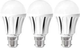 United 8W LED Bulb (White, Pack of 3)