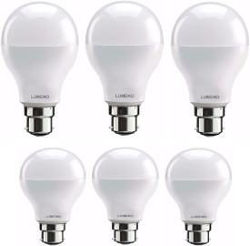 Lumeno 9W ,7W B22 LED Bulb (White, Pack Of 6)
