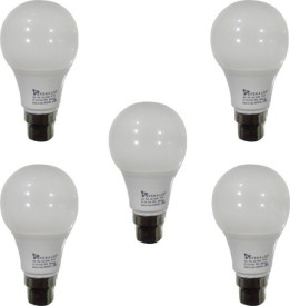 Syska 5 W LED Bulb B22 White (pack of 5)
