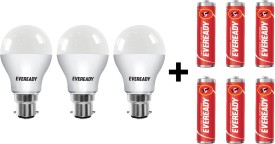 Eveready 9 W LED 6500K Cool Daylight Combo Bulb White (pack of 3)