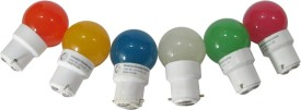 Greaves L14SO6 0.5 W LED Bulb Multi color (pack of 6)