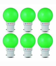 Ping Pong 0.5W B22 Green LED Bulb (Pack of 6)