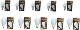Voltech Engineerings 9 W LED Bulb B22 White (pack of 10)