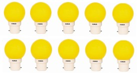 0.5 W FLZY22PL LED Bulb B22 Yellow (pack of 10)