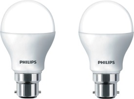 Philips 7W B22 6500K A55 IND LED Bulb (White, Pack of 2)