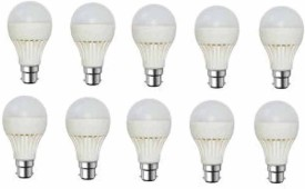 Kalash Gold 9W Plastic Body Warm White LED Bulb (Pack Of 10)