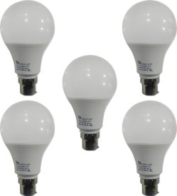 9 W B22 PAG LED Bulb (White ,Plastic, Pack of 5)