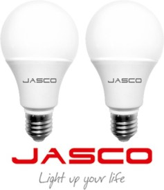 Jasco 9W E27 LED Bulb (White, Pack Of 2)