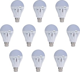 Lite India 5 W LED Bulb (White, Pack of 10)