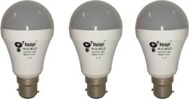 IC Based Energy Saving 7 W White LED Bulb (Pack of 3)