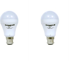 7W Aluminium Body White LED Bulb (Pack of 2)