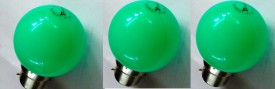 0.5 W LED Bulb B22 Green (pack of 3)