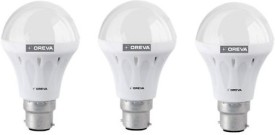 10W White LED Bulb (Pack Of 3)