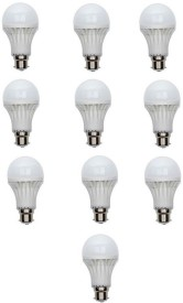 18W B22 LED Bulb (White, Set of 10)