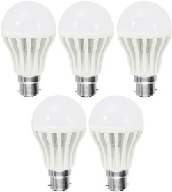 5 W B22 White LED Bulb (Plastic, Pack of 5)