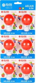 Polycab 0.5 W LED Bulb B22 Red (pack of 6)