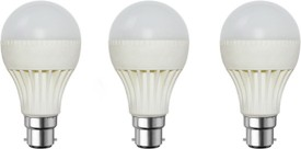 Rashmi 7 W LED Bulb (White, Pack of 3)