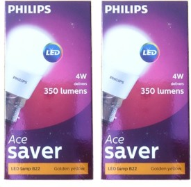 4 Watt 350L White LED Bulb (Pack of 2)