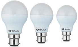 Bajaj 5 W, 7 W, 9 W 830026-28-52 LED Bulb B22 White (pack of 3)