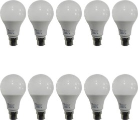 9W LED Bulb (White, Pack of 10)