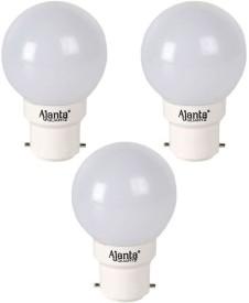Ajanta Delux 0.5W LED Bulb (White, Pack of 3)
