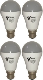 IC Based Energy Saving 7 W LED Bulb (White, Pack of 4)
