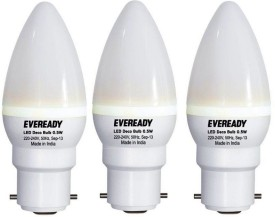 Eveready 0.5 W LED Bulb B22 White (pack of 3)