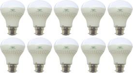 Super Bright 9W LED Bulb (White, Pack of 10)
