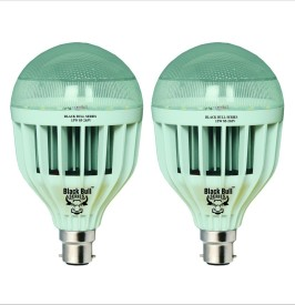 Black Bull Series 15W B22 LED Bulb (White, Set of 2)
