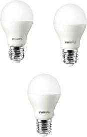 Philips 9 W LED E27 (Spiral Base) Cool Day Light Bulb White (Pack Of 3)