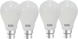 9 W Dura LED Bulb (White, Pack of 4)