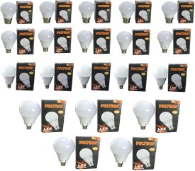 Voltech Engineerings 12 W LED Bulb B22 White (pack of 20)