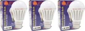 Eco B22 11W LED Bulb (Warm White, Pack of 3)