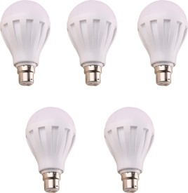 9W 460 Lumens White Eco LED Bulbs (Pack Of 5)