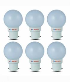 Bajaj 0.5W White LED Bulb(Pack Of 6)