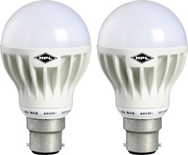 HPL B22 12W LED Bulb (White Pack of 2)