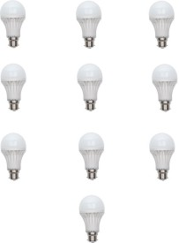 3 W LED Bulb (White, Pack of 10)