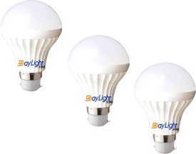 Daylight 10W B22 LED Bulb (White, Set Of 3)