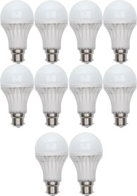 Gold 7 W B22 LED Bulb (White, Pack of 10)