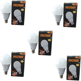 Voltech Engineerings 9 W LED Bulb B22 White (pack of 5)