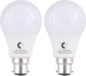 9 W LED Bulb B22 White (pack of 2)