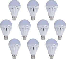 Lite 7W B22 LED Bulb (White, Set of 10)